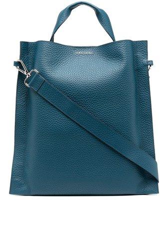 Blue Orciani large leather tote bag B01983SOFT - Farfetch