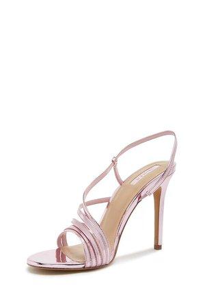 Strappy Metallic Heels