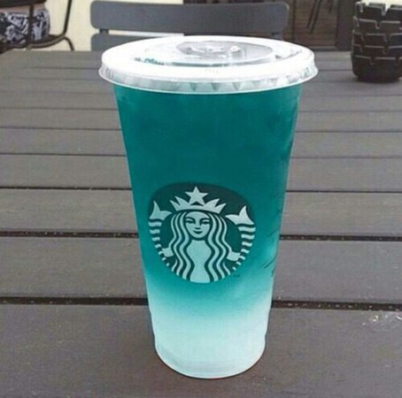 turquoise mermaid latte
