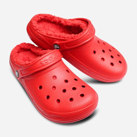 Furry Crocs   Red