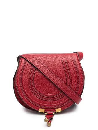 Shop red Chloé mini Marcie crossbody bag with Express Delivery - Farfetch