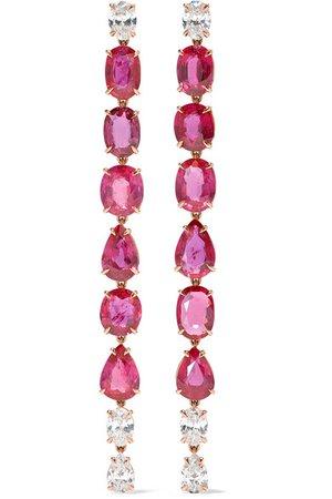 Anita Ko   18-karat gold, ruby and diamond earrings   NET-A-PORTER.COM