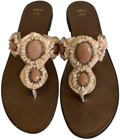 Non Signé / Unsigned Non Signe / Unsigned Pink Polyester Sandals
