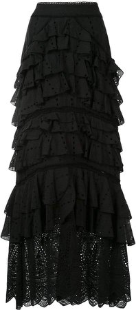 Lola ruffle maxi skirt