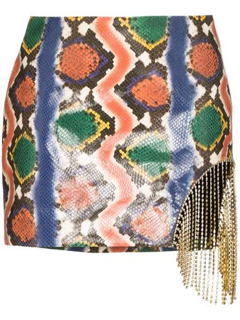 Area Snake-Embossed Embellished Mini Skirt   Farfetch.com