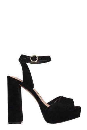 Steve Madden Madeline Black Nabuk Sandals
