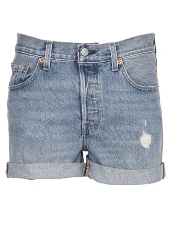 Levis Distressed Denim Shorts