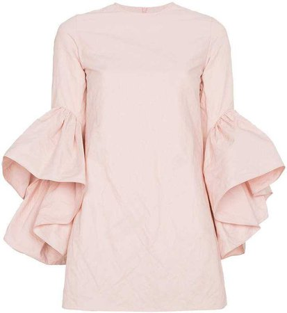 MARQUES'ALMEIDA Mini dress with ruffled sleeves