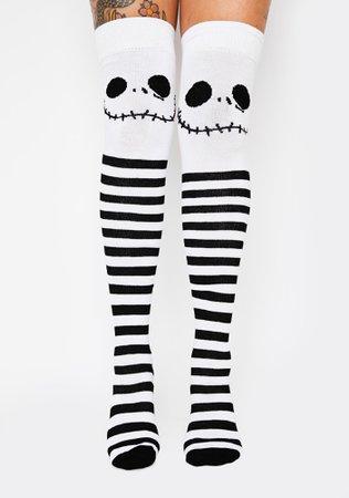 Jack's Nightmare Thigh High Socks