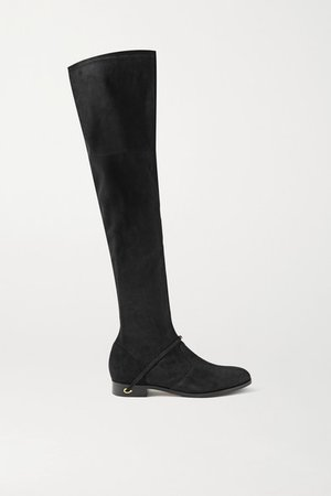 Silvio Suede Over-the-knee Boots - Black