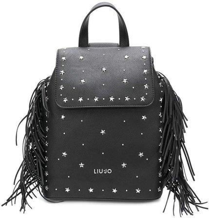 star studded fringed backpack
