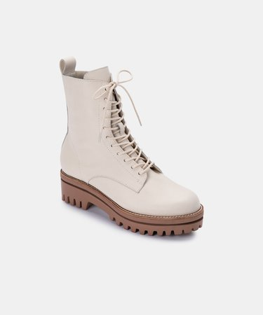 PRYM BOOTS IN IVORY LEATHER – Dolce Vita