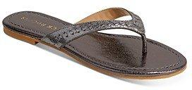 Women's Collins Metallic Leather Flip-Flops
