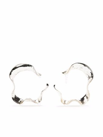 Hugo Kreit Swell metallic hoop earrings - FARFETCH