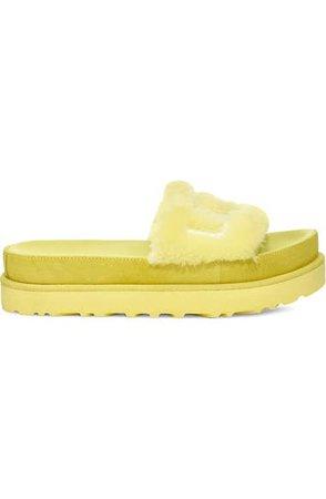UGG® Laton Genuine Shearling Sandal (Women)   Nordstrom