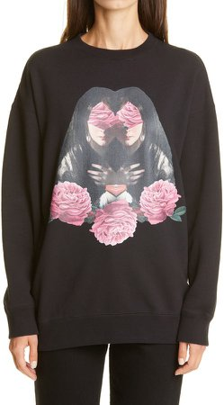 Graphic Oversize Cotton Sweatshirt