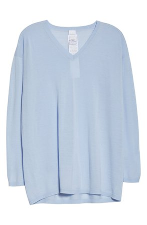 Max Mara V-Neck Sweater blue