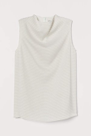 Sleeveless Blouse - White