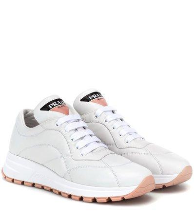 Prax-01 Leather Sneakers | Prada - mytheresa.com