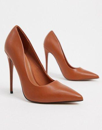 ASOS DESIGN Penelope stiletto pumps in tan   ASOS