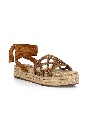 Schutz Byana Ankle-Tie Platform Espadrille Sandals | SaksFifthAvenue
