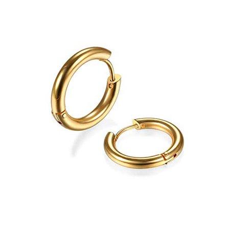 Amazon.com: 2Pcs 316L Surgical Stainless Steel Huggie Hoop Earrings 8mm Hypoallergenic Earrings Hoop Cartilage Helix Lobes Hinged Sleeper Earrings for Men Women(Gold 8mm): Jewelry