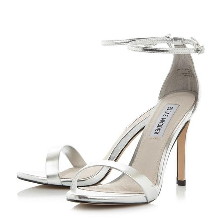 STECY SM - Two Part High Heel Sandal - silver | Dune London