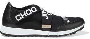 Toronto Leather And Stretch-knit Slip-on Sneakers