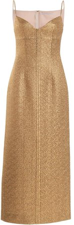 Emilia Wickstead Paulette Glittered Slip Dress