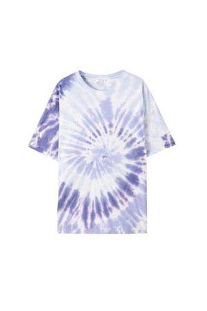 Oversize lila batik t-shirt