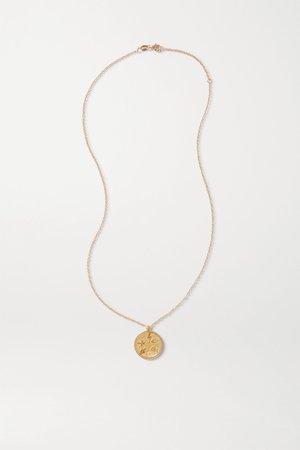 Gold Talisman gold-plated diamond necklace | Meadowlark | NET-A-PORTER