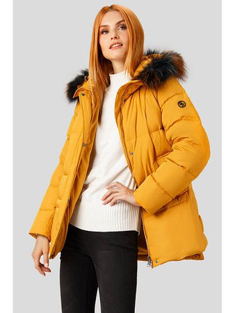 winter coat yellow