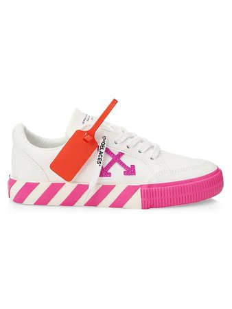 Pink Off-White Sneakers