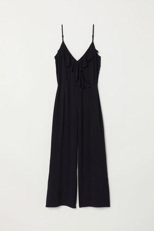 Ankle-length Jumpsuit - Black - Ladies | H&M CA