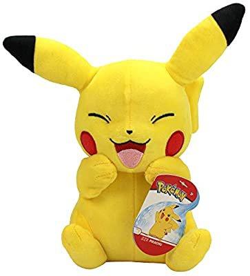 "Amazon.com: Pikachu Plush Limited Edition Laughing - Pokemon Official & Premium Quality 8"" Plush: Toys & Games"