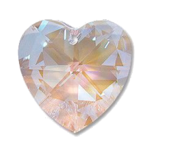 Iridescent Heart-Crystal clear filler png
