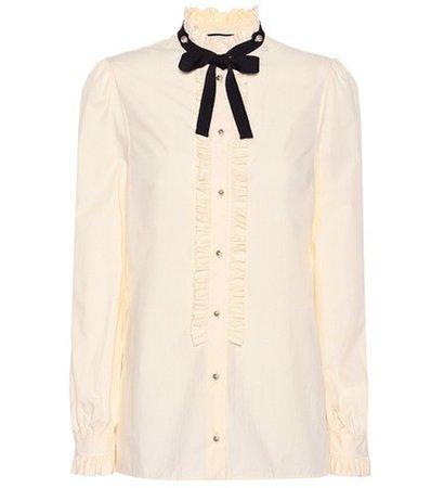 Embellished cotton blouse