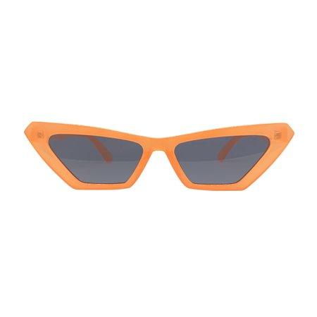 ANNABELLE Neon Orange Cat-Eye Sunnies - Giant Vintage Sunglasses