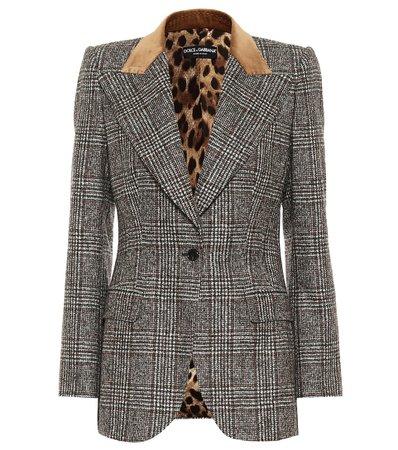 Dolce & Gabbana - Checked wool-blend blazer | Mytheresa