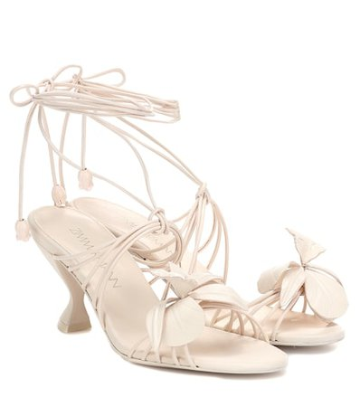 Orchid leather sandals
