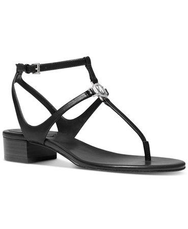 black Michael Kors Lita Thong Sandals & Reviews - Sandals - Shoes - Macy's