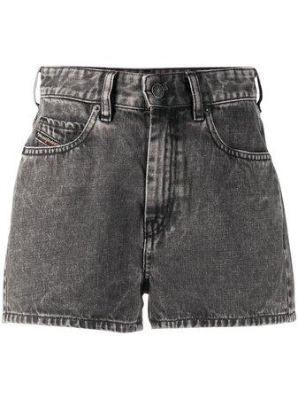 Diesel high-rise Washed Denim Shorts - Farfetch