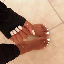 white toes nails - Google Search