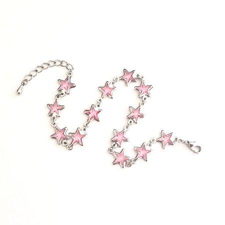 Vintage Jewelry | Pink Star Bracelet | Poshmark