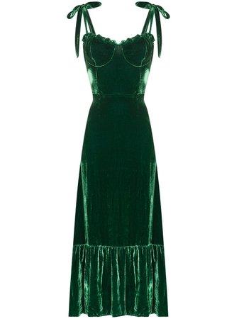 Reformation Antoinette Sweetheart Neck Midi Dress - Farfetch