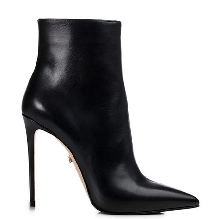 EVA ANKLE BOOT 120 mm | Black leather ankle boot | Le Silla