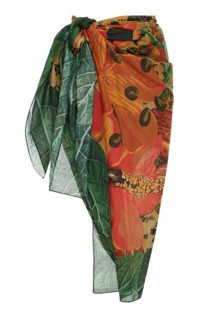 Printed Jungle Sarong by Agua de Coco | Moda Operandi