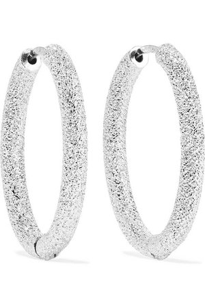 Carolina Bucci | Florentine 18-karat white gold hoop earrings | NET-A-PORTER.COM