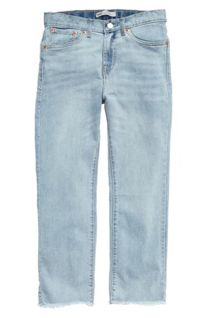 Levi's® High Waist Straight Leg Jeans (Big Girls)   Nordstrom