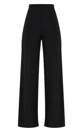 Jill Black Slinky Palazzo Pants   Knitwear   PrettyLittleThing USA